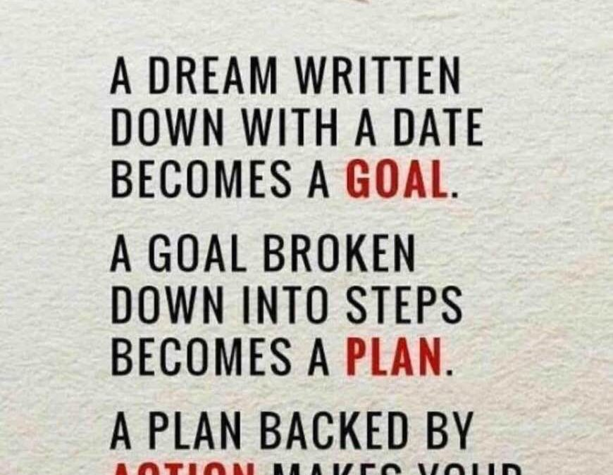 A dream written down…. Starting this vitamin company seemed overwhelming at first, but when we broke it down into smaller actions, it grew. What's the difference between a dream and a goal?