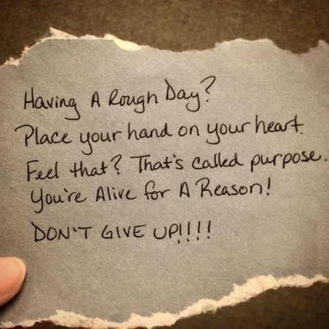 If you're alive, there's a reason and purpose.  Go find it and live it! –
